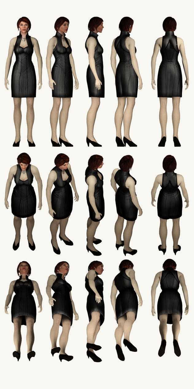 Mass Effect 2, Female Shepard, Formal - Reference by Troodon80