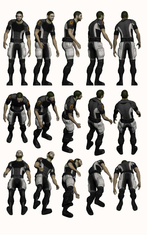 """Mass Effect 2, Jeff """"Joker"""" Moreau Refer by Troodon80"""