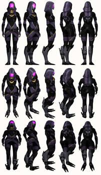Mass Effect 2, Tali - Model Reference.
