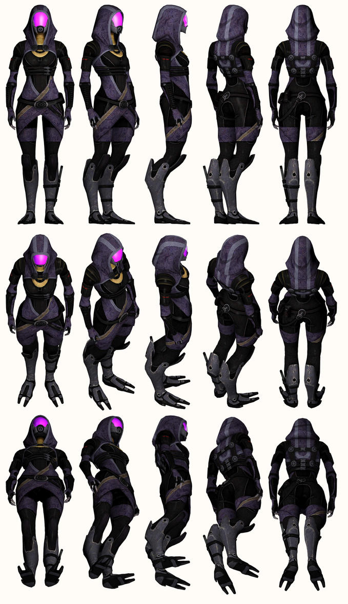 Mass Effect 2, Tali - Model Reference. by Troodon80