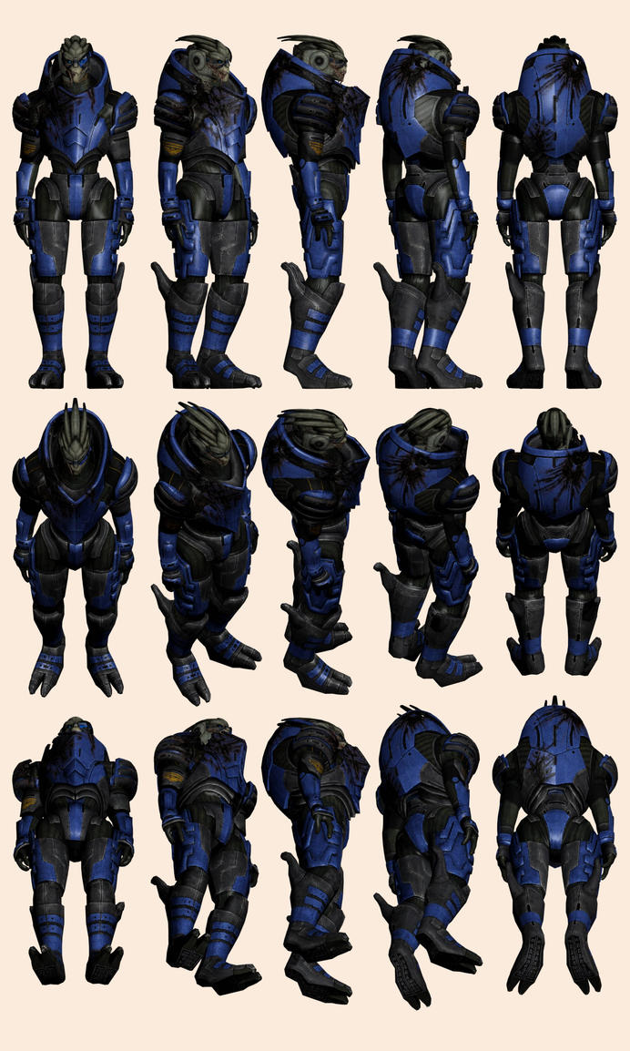 Mass Effect 2, Default Garrus - Model Reference. by Troodon80