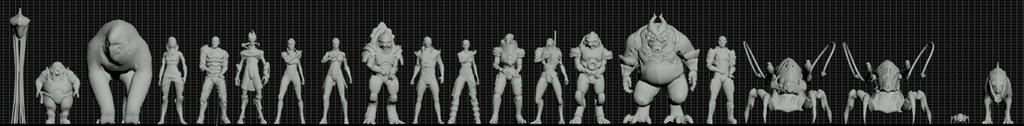 Mass Effect Species Height Reference.