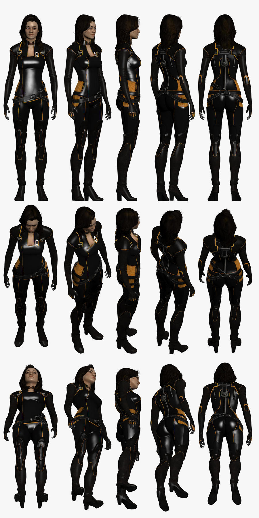 Mass Effect 2, Miranda - Model Reference. by Troodon80
