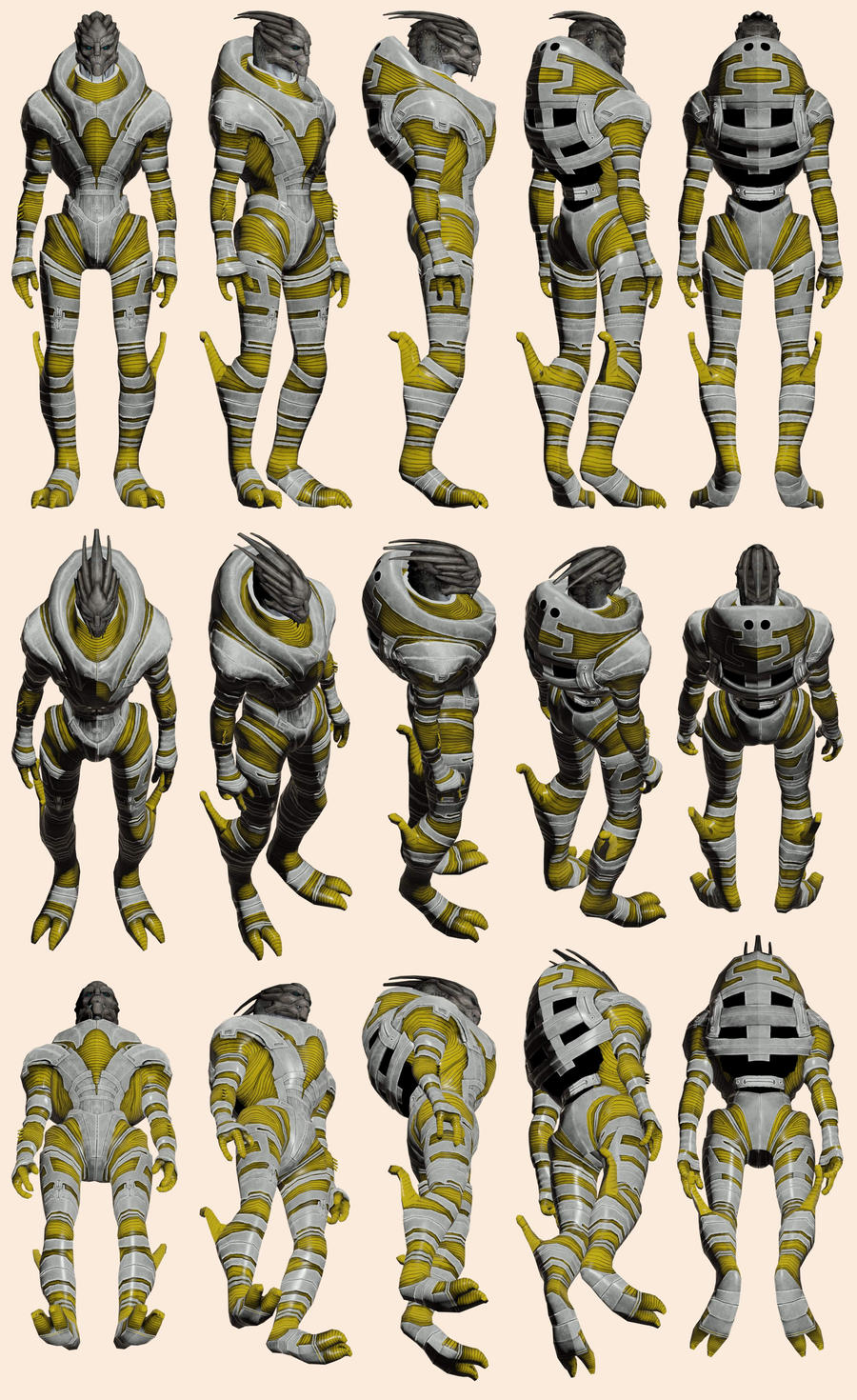 Mass Effect, Turian Liberator Armour Ref by Troodon80