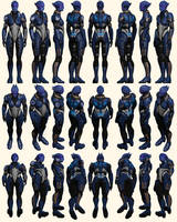 Mass Effect 2, Tela Vasir - Model Reference. by Troodon80