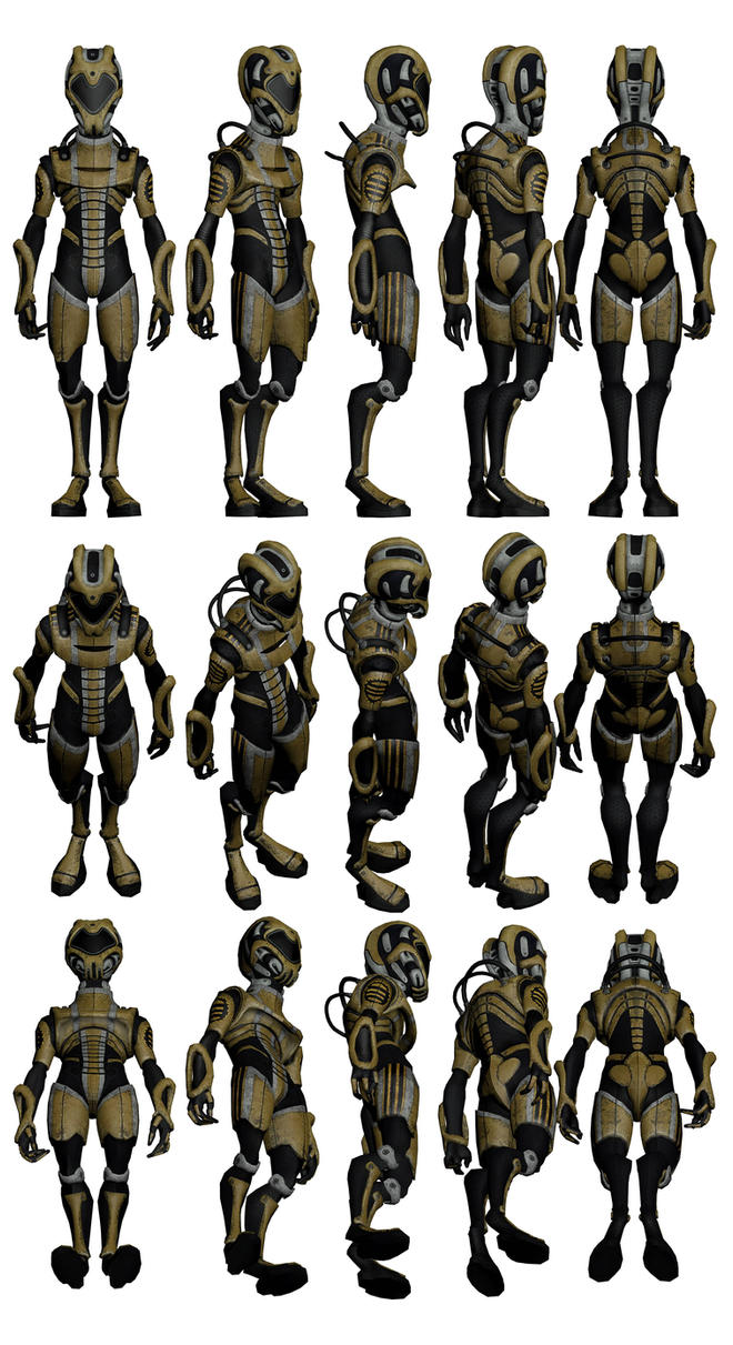 Mass Effect 2, Salarian Eclipse Merc Ref. by Troodon80