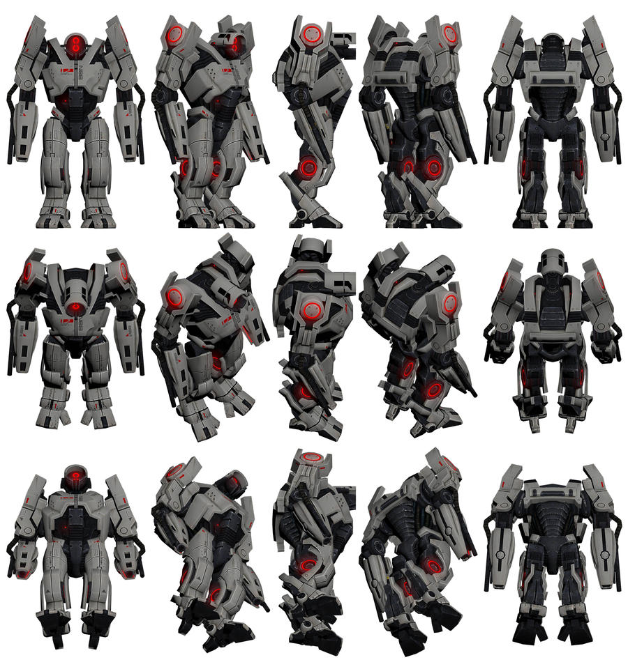 Mass Effect 2, YMIR Mech Reference. by Troodon80