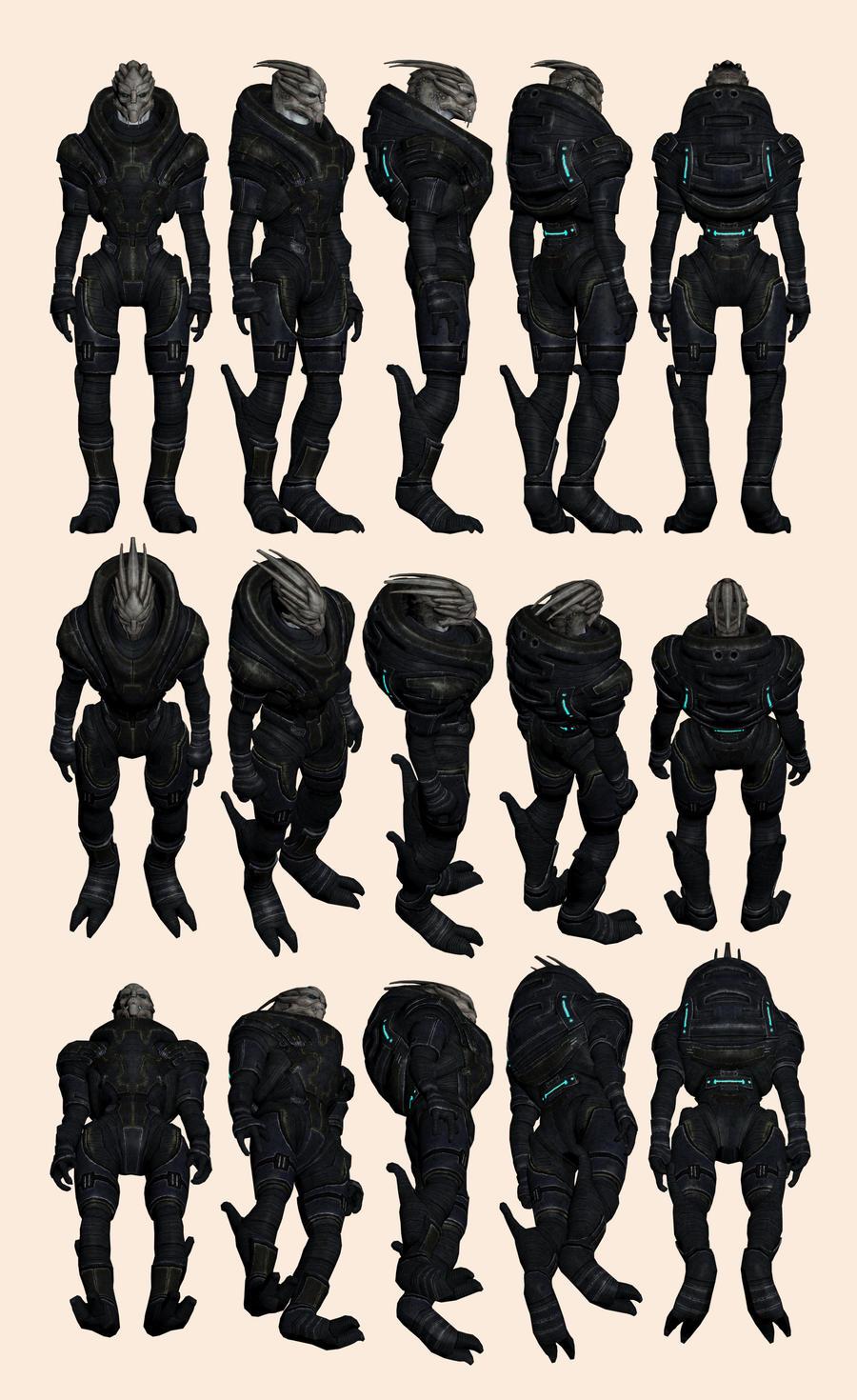 Mass Effect, Turian Medium Phantom-Duellist Armour by Troodon80