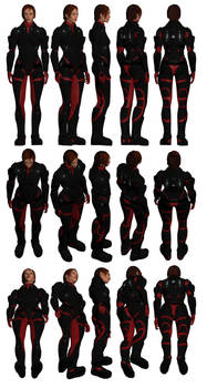 Mass Effect, Colossus Armour Heavy, Female Ref.