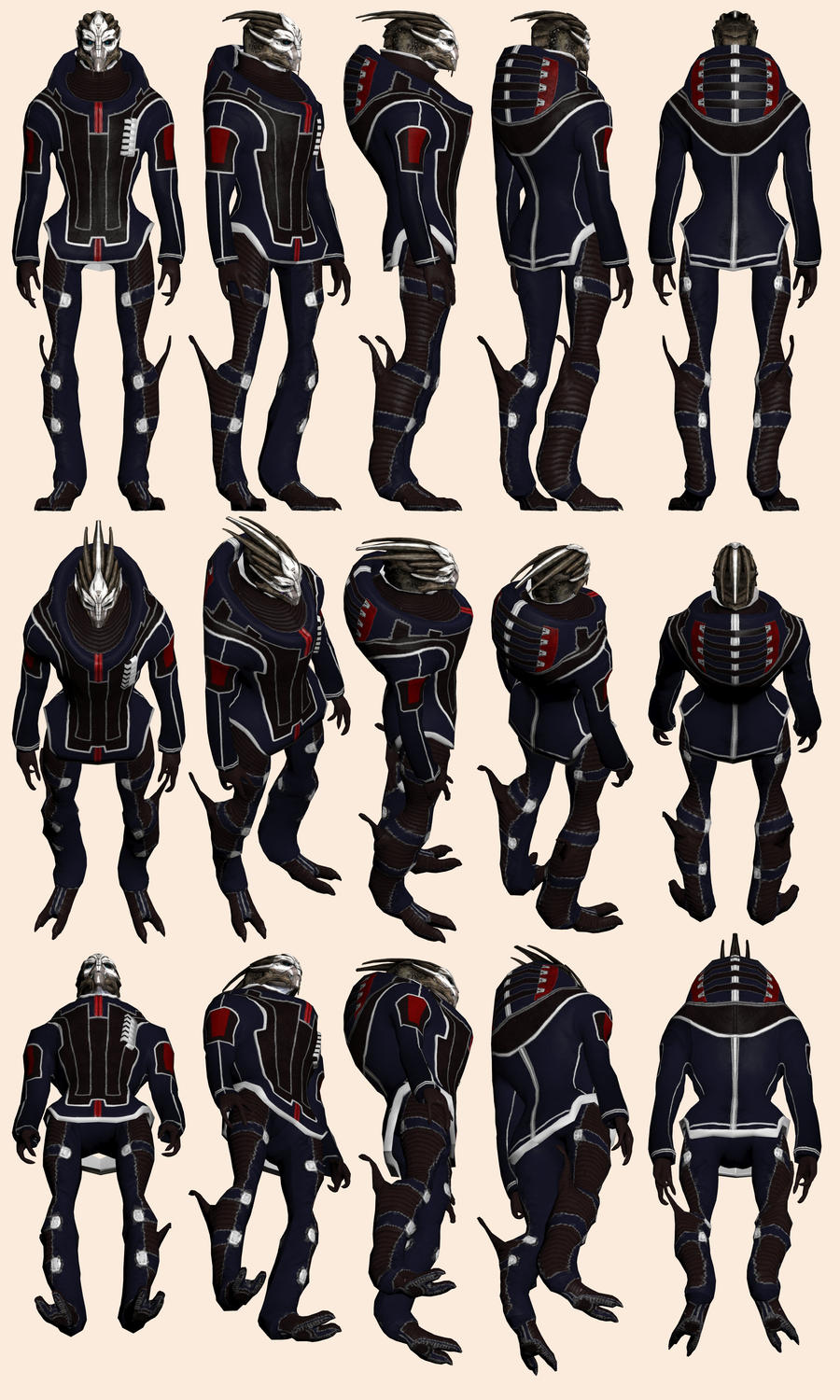 Mass Effect, Executor Pallin Model Reference. by Troodon80