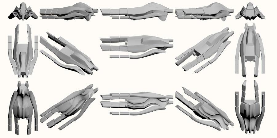 Mass Effect, Rough Draft - Crop Shuttle by Troodon80