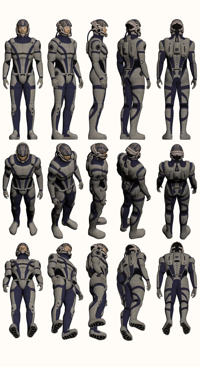 Mass Effect, Male Explorer Armour Light by Troodon80