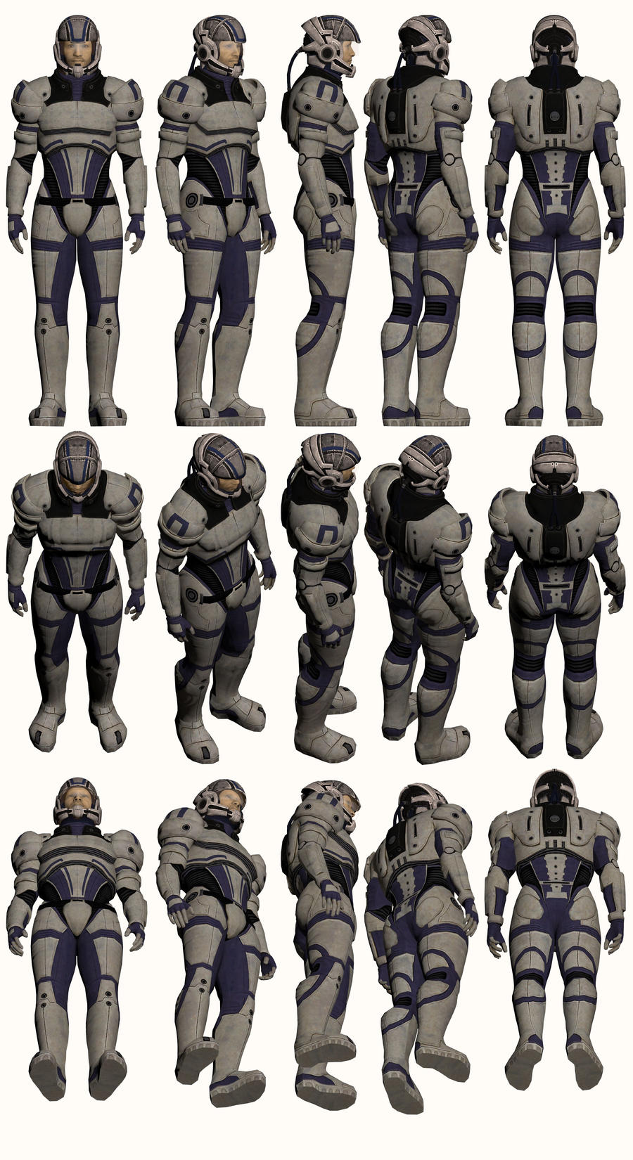 Mass Effect, Male Explorer Armour Medium by Troodon80