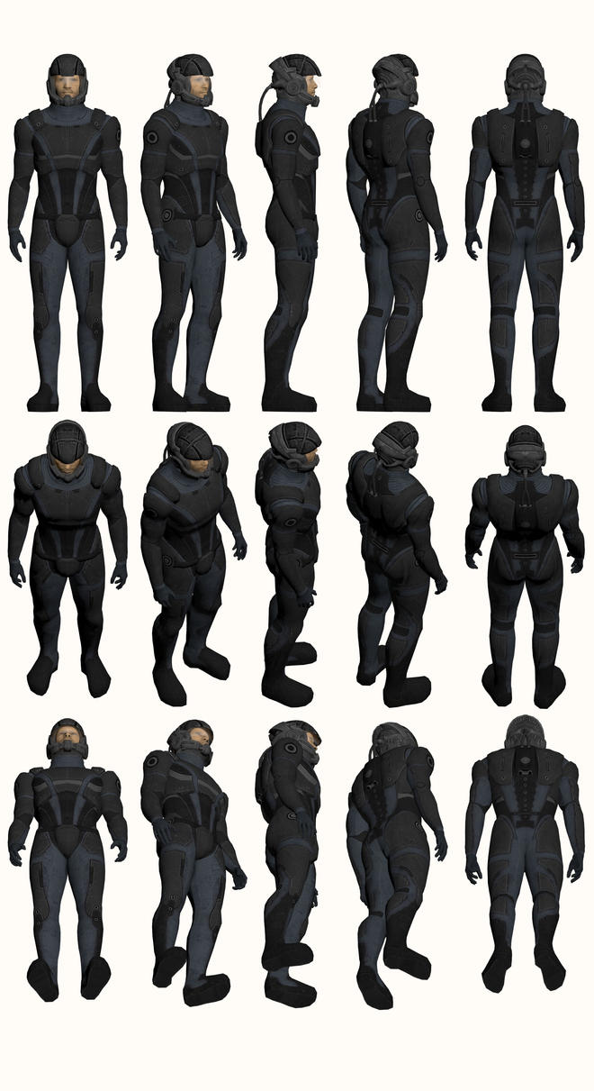 Mass Effect, Male Onyx Armour Light by Troodon80