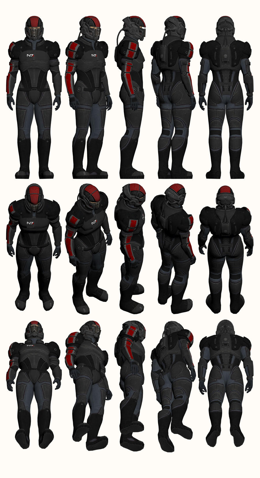 Mass Effect, Male Onyx N7 Armour Medium by Troodon80