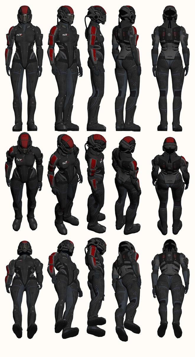 Mass Effect, Female Onyx N7 Armour Heavy by Troodon80