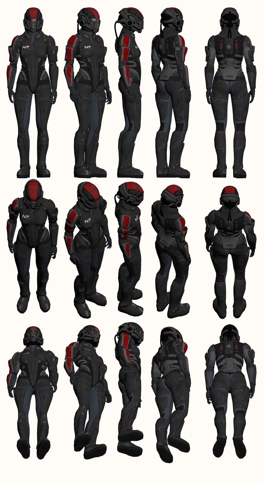 Mass Effect, Female Onyx N7 Armour Heavy by Troodon80