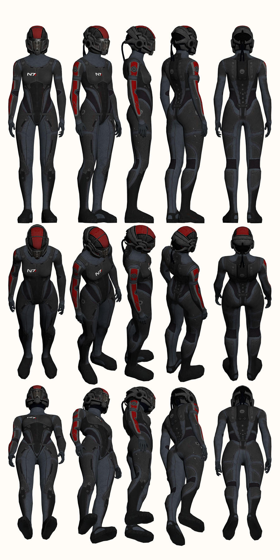 Mass Effect, Female Onyx N7 Armour Light by Troodon80