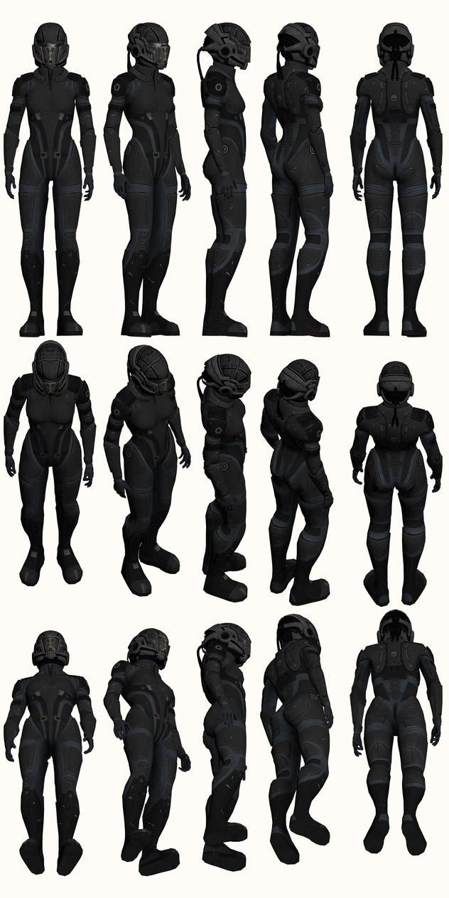 Mass Effect, Female Onyx Armour Medium by Troodon80