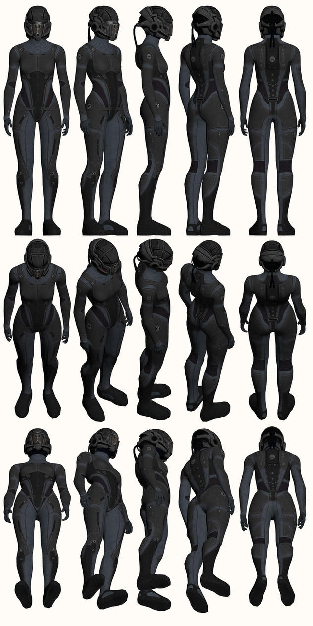 Mass Effect, Female Onyx Armour Light by Troodon80
