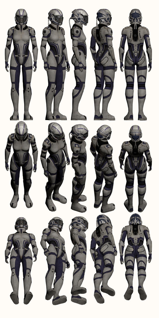 Mass Effect, Female Explorer Armour Medium by Troodon80