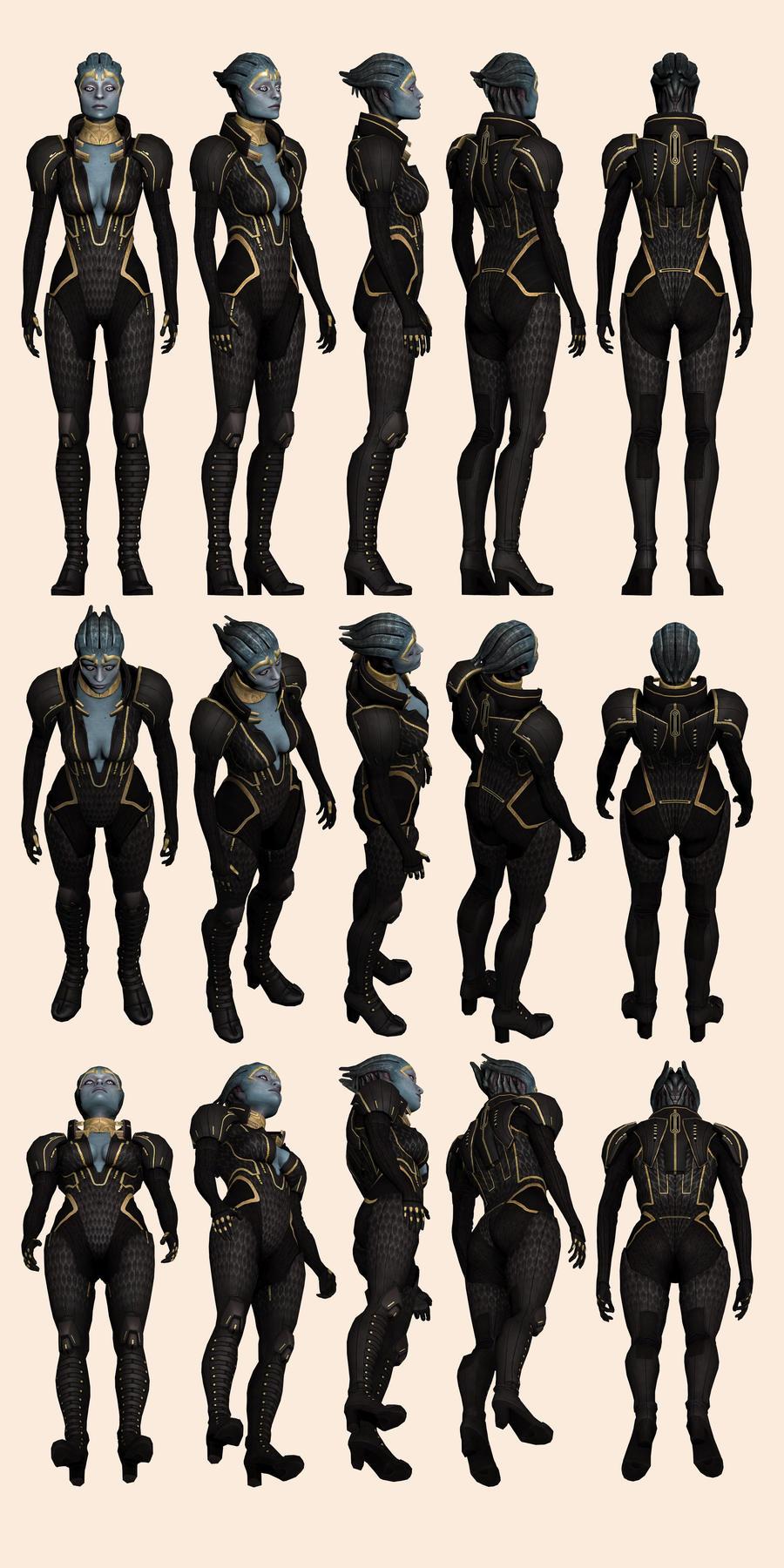 Mass Effect 2, Samara - Model Reference. by Troodon80