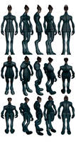 Mass Effect 2, Salarian Casual - Model Reference.