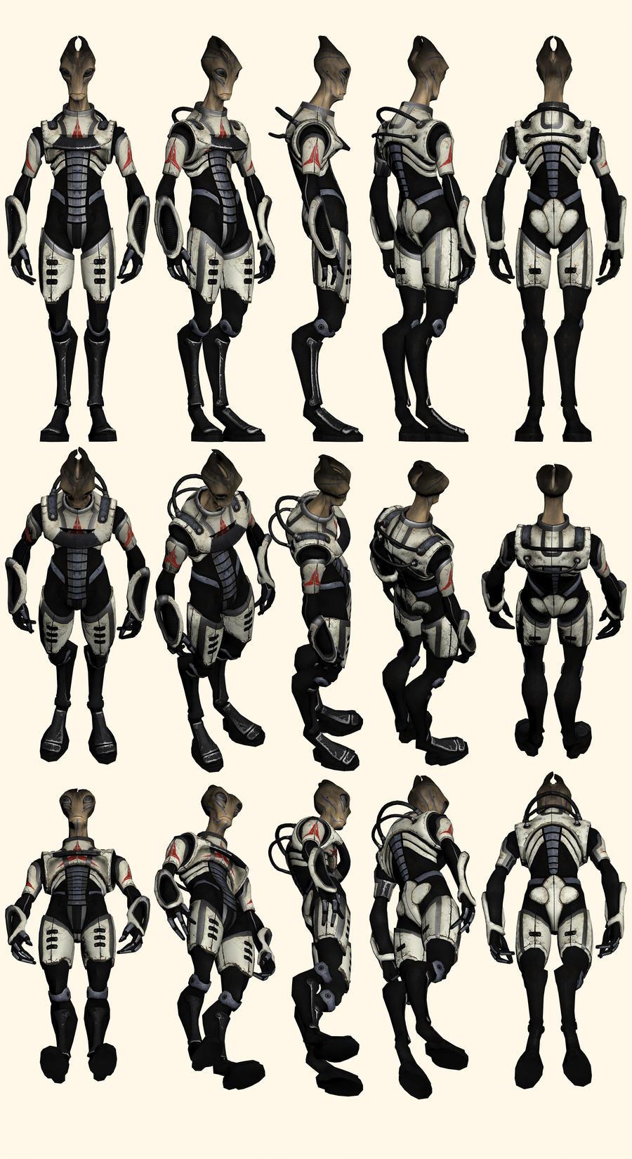 Mass Effect 2, Salarian Shadow Broker Mercenary by Troodon80