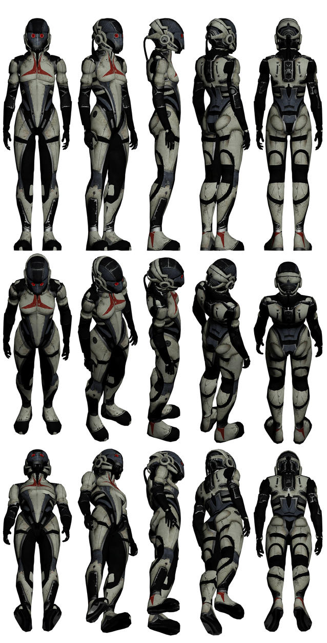 Mass Effect 2, Female Shadow Broker Mercenary by Troodon80