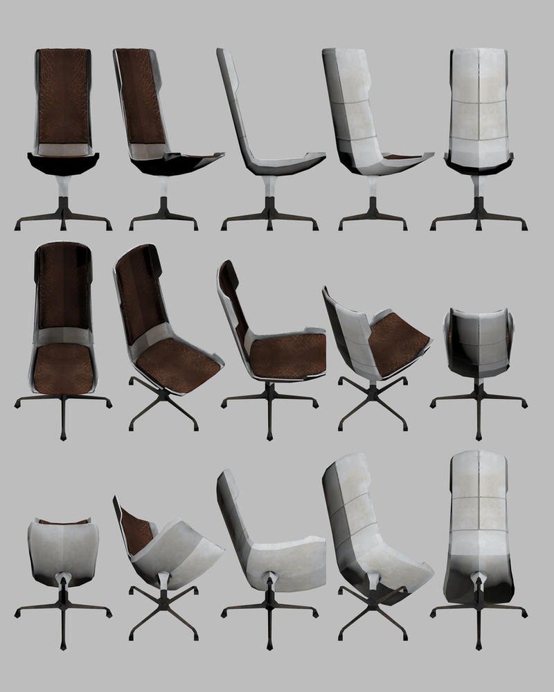 Mass Effect, Utilitarian Chair Model Reference. by Troodon80