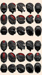 Mass Effect 2, N7 Helmet Model Reference by Troodon80
