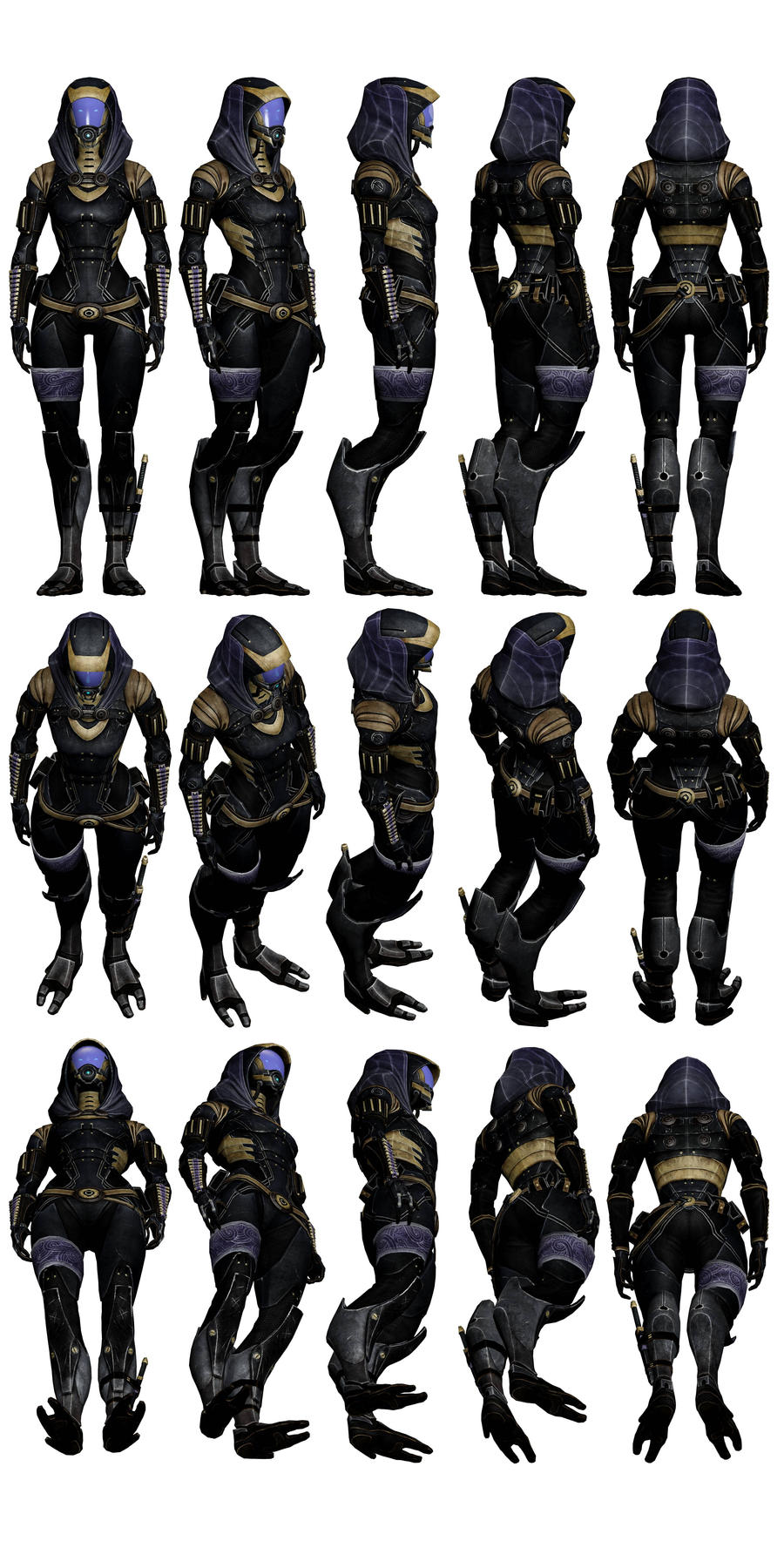 Mass Effect 3 - Tali Outfit #2 by Troodon80