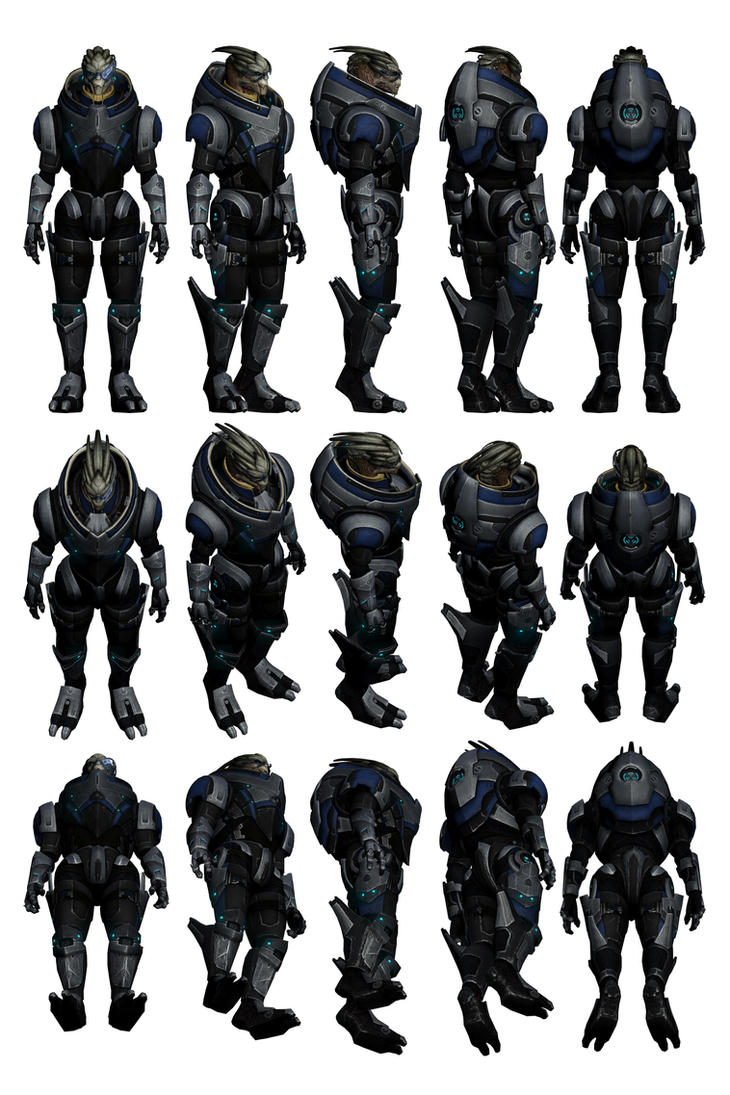 Mass Effect 3, Garrus Reference. by Troodon80