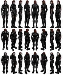 Mass Effect 3, Female Shepard Damaged Armour.