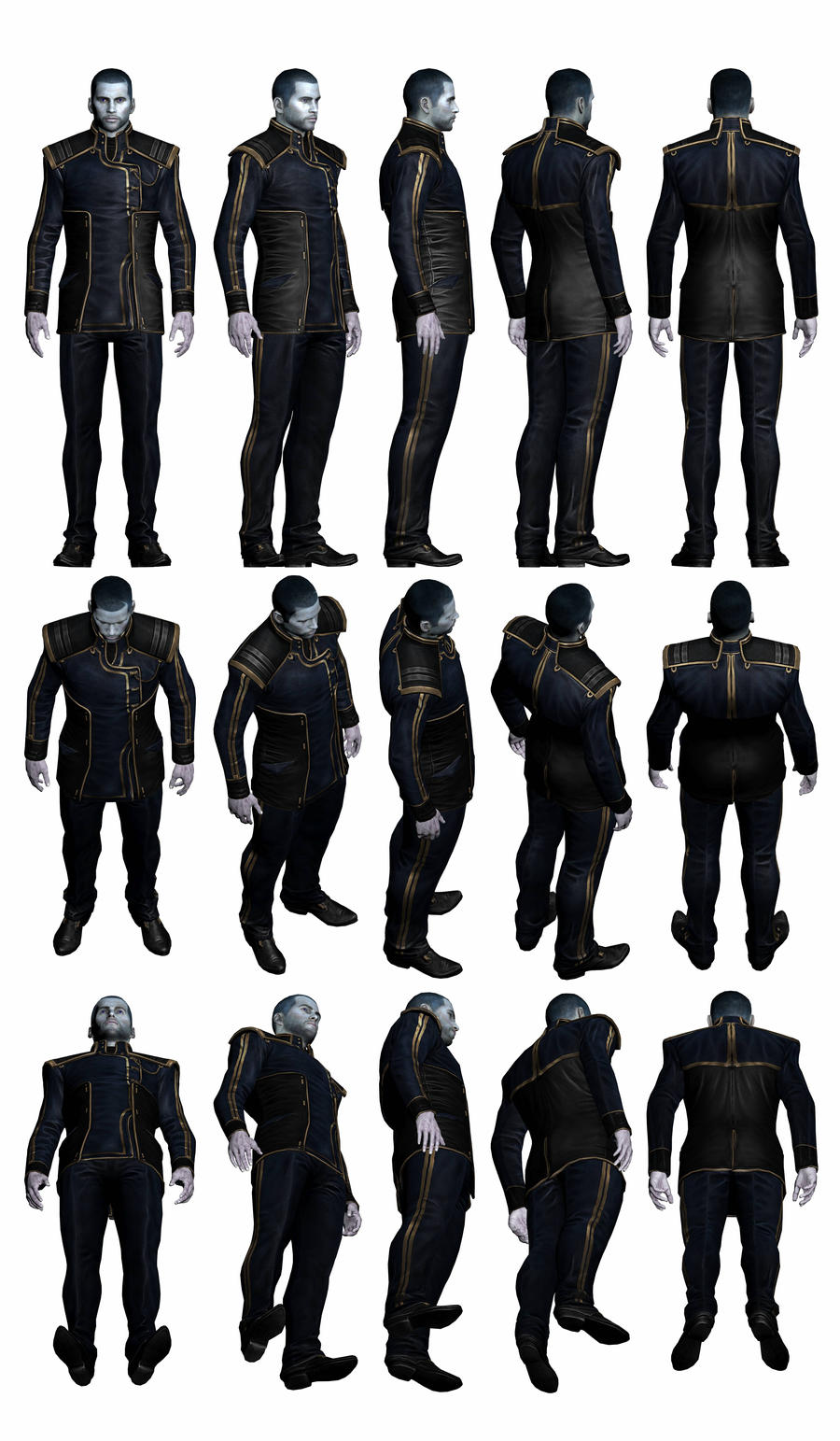 Mass Effect 3, Male Shepard - Alliance Uniform. by Troodon80
