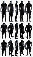 Mass Effect 3, Male Shepard - Alliance Fatigues.