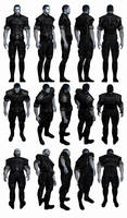 Mass Effect 3, Male Shepard - Alliance Fatigues. by Troodon80