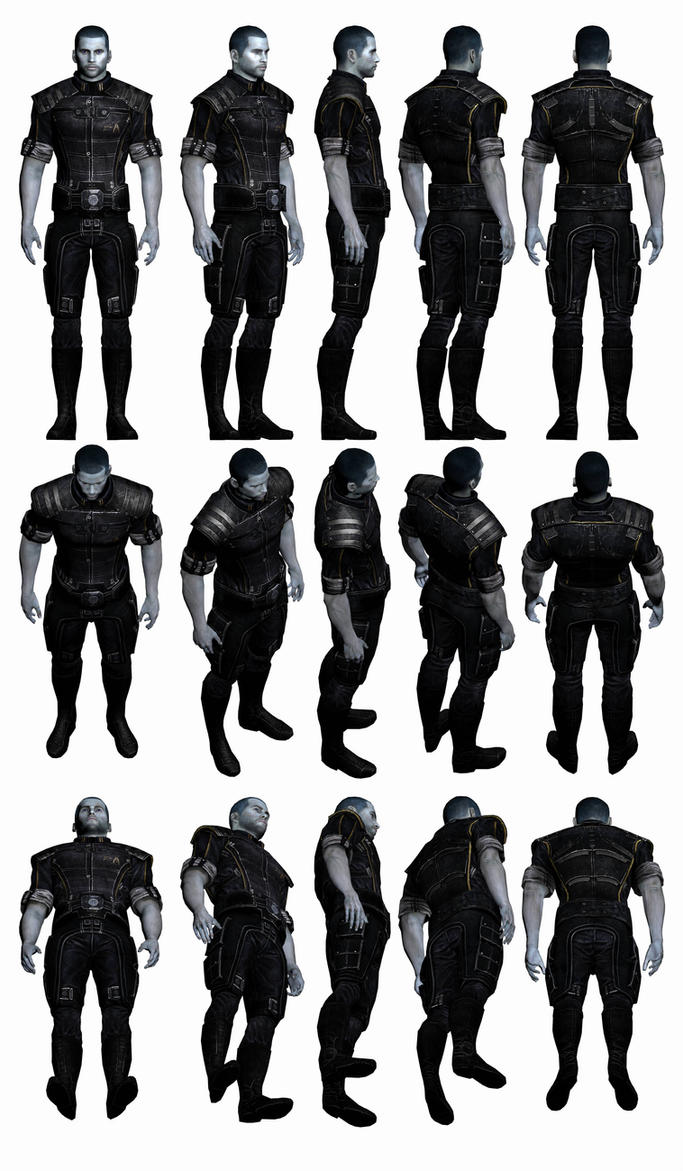 Mass Effect 3, Male Shepard - Alliance Fatigues. by Troodon80