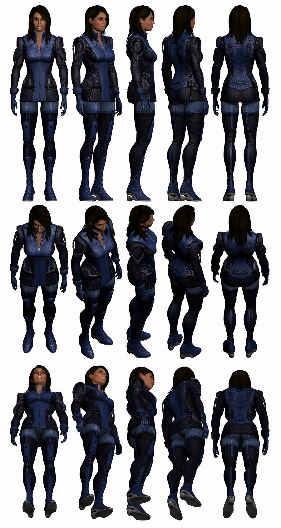 Mass Effect 3, Ashley Reference. by Troodon80