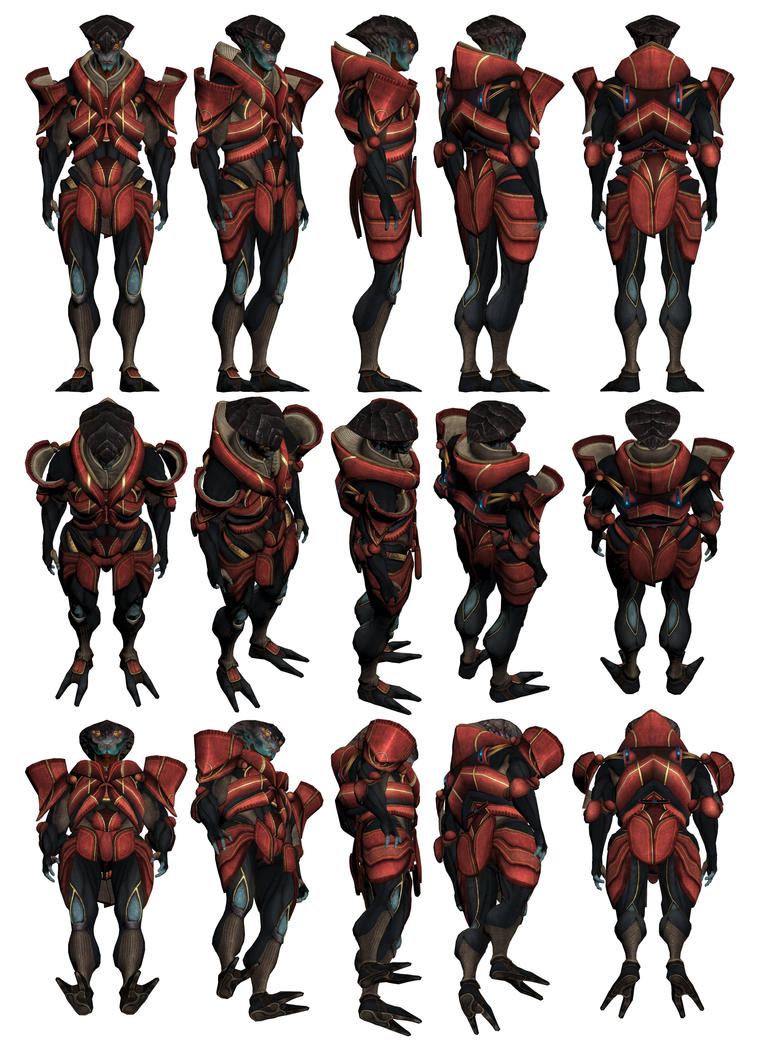 Mass Effect 3, Javik Reference. by Troodon80