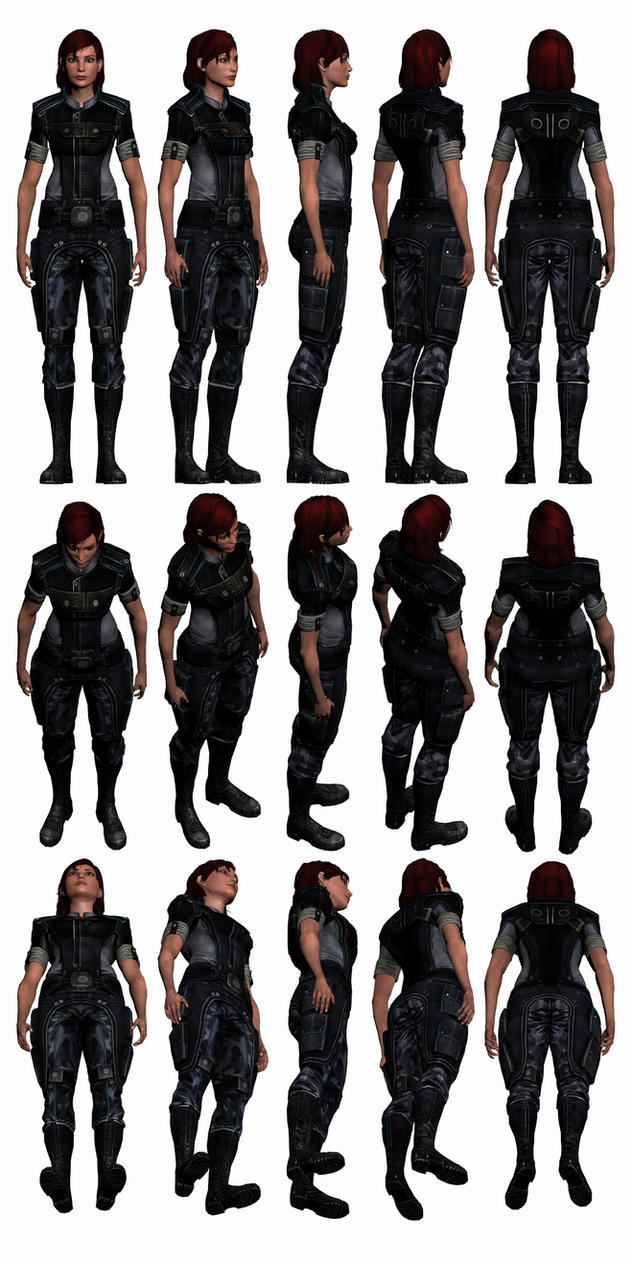 Mass Effect 3, Female Shepard Alliance Fatigues. by Troodon80