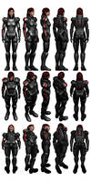 Mass Effect 3, Female Shepard N7 Armour Reference.