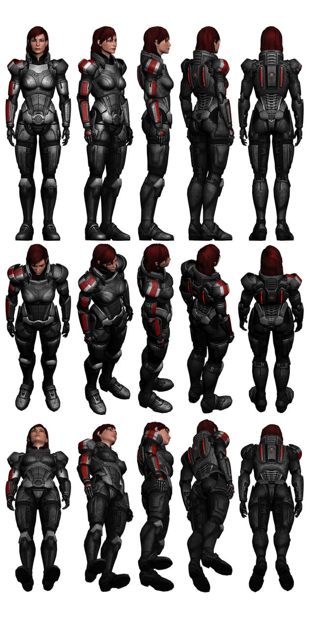 Mass effect 3 female shepard n7 armour reference by for Mass effect 3 n7 armor template