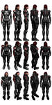 Mass Effect 3, Female Shepard N7 Armour Reference. by Troodon80