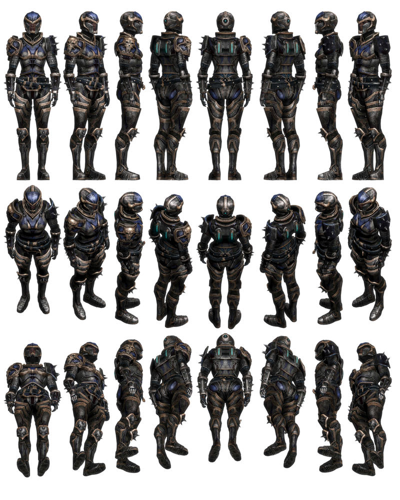Mass Effect 3, Female Reckoner Armour Reference. by Troodon80