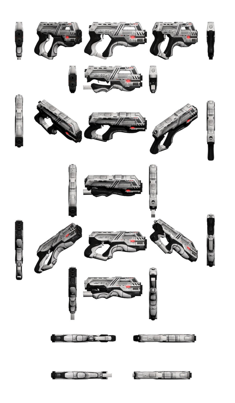 Mass Effect 3, M-77 Paladin Heavy Pistol Reference by Troodon80
