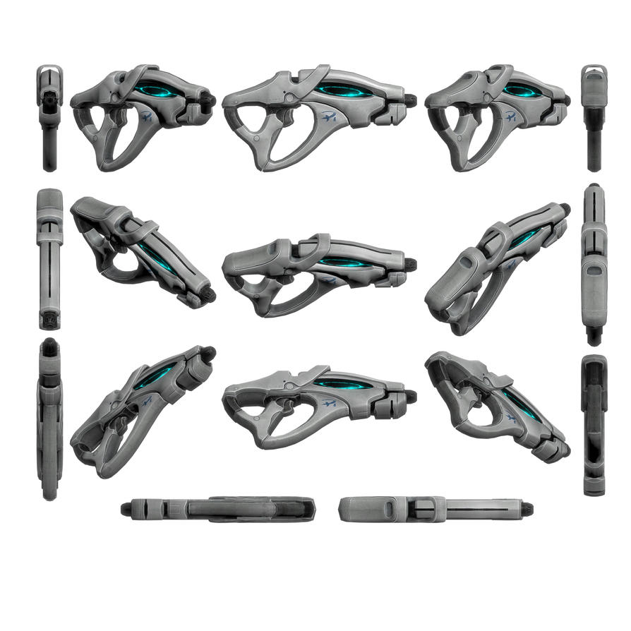 Mass Effect 3, Scorpion Heavy Pistol Reference. by Troodon80