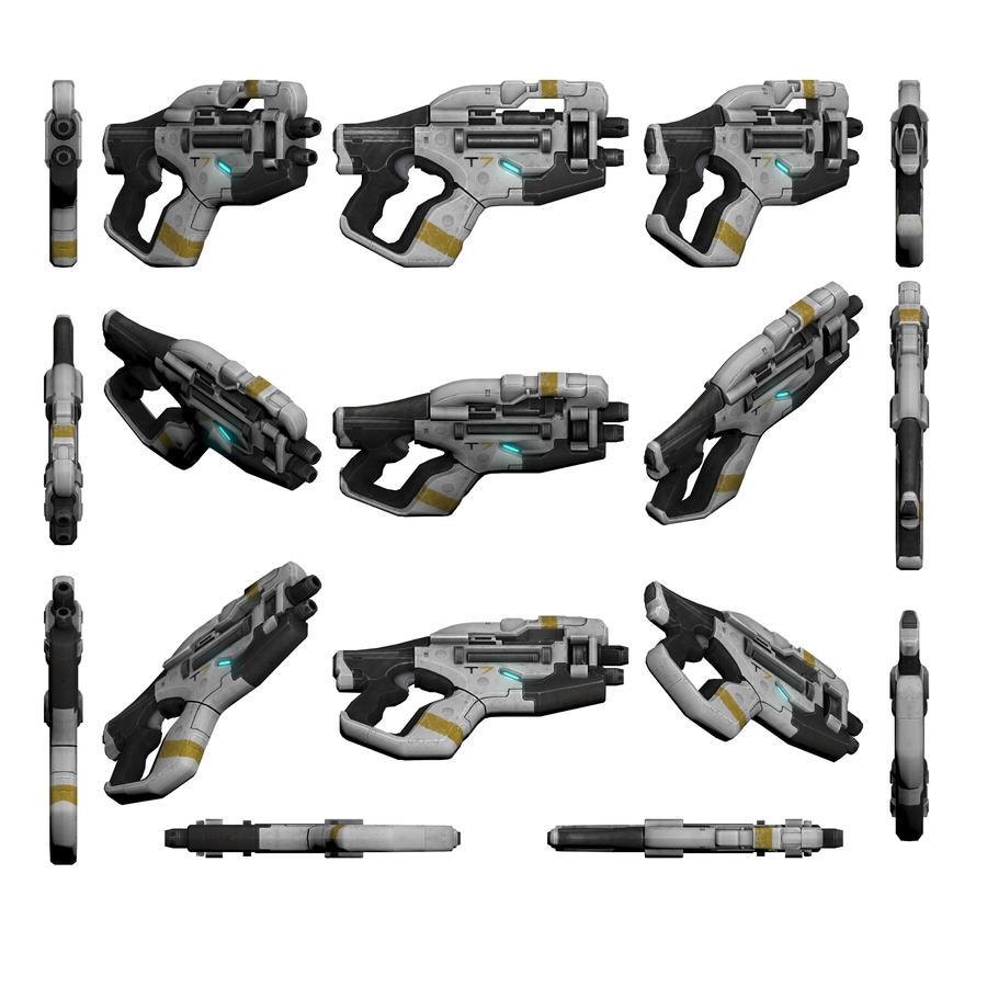 Mass Effect 3, Talon Heavy Pistol Reference. by Troodon80
