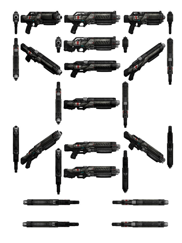 Mass Effect 3, Crusader Shotgun Reference. by Troodon80