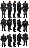 Mass Effect 3, Vega - Default Armour Ref.